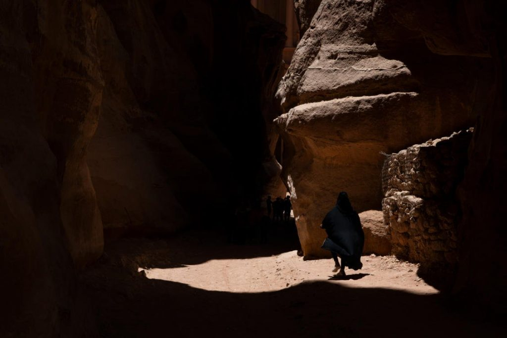 Bedouin woman in Petra, Jordan. (Photo: Stamos Abatis for CCP)