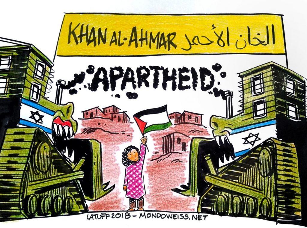 Carlos Latuff on the demolition of the Bedouin village of Khan al-Ahmar, east of Jerusalem.