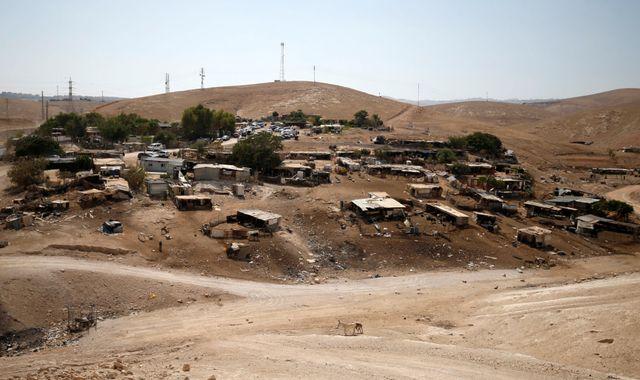 Khan Al Ahmar is in a strategic location in the West Bank