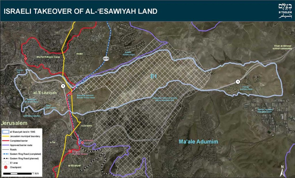 The road for Palestinians north of the Ma'ale Adumim settlement that Defense Minister Naftali Bennett announced on March 9, 2020, would be advance. (Peace Now)