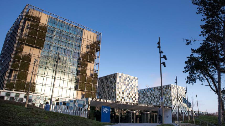 The International Criminal Court in the Hague, Netherlands, February 6, 2020.Credit: Peter Dejong,AP