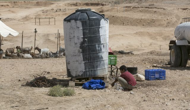 The Site of the planned Bedouin township of Nu'eimeh. By Olivier Fitoussi.