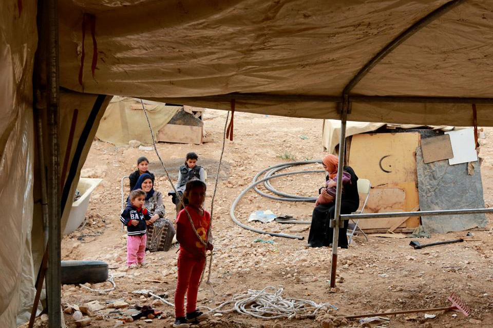 Many Bedouin and herding communities in Area C of the West Bank are prevented from improving or building shelters by the Israeli authorities. Photo: UNRWA/Alaa Ghosheh.