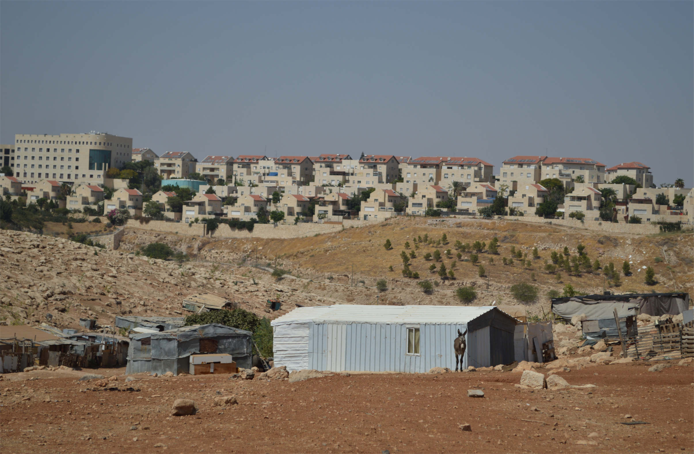 Abu Nuwwar struggles to survive in the shadow of the massive Israeli settlement Ma'ale Adumim. (Photo: Lydia Noon)