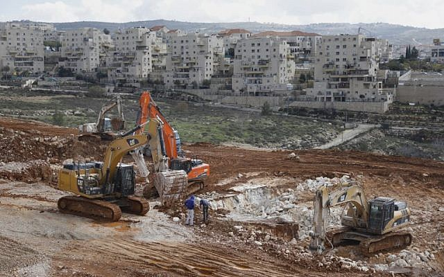 A view of the Israeli settlement of Beitar Illit on February 14, 2018. (AFP/ MENAHEM KAHANA)