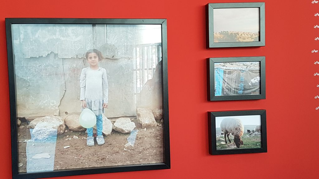 An exhibition featuring the works of Abu Al-Anwar village's children and other Bedouin gatherings