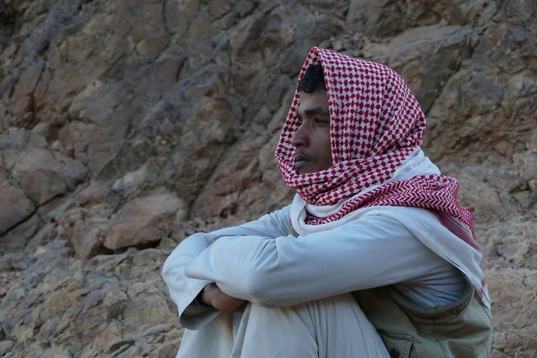 Bedouin Mohammed Muteer from the Red Sea Mountains near Hurghada. Credit: Ben Hoffler/ Red Sea Mountain Trail